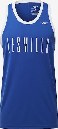 REEBOK Shirt 'Les Mills' in blau / weiß, Produktansicht