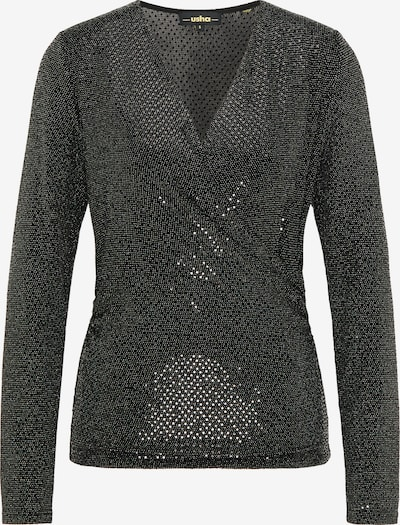 usha BLACK LABEL Bluse in gold / schwarz, Produktansicht