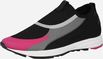 HUGO Sneaker 'Slon' in grau / hellgrau / dunkelpink / schwarz, Produktansicht