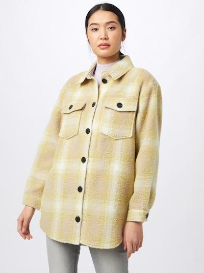 ONLY Prehodna jakna 'DEENA-OMA' | svetlo rumena / naravno bela barva: Frontalni pogled