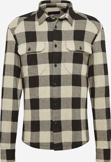 DRYKORN Overhemd in de kleur Ecru / Zwart, Productweergave