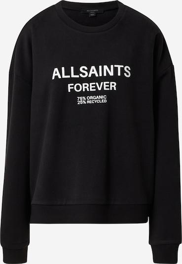 AllSaints Sweatshirt 'Forever' in de kleur Zwart / Wit, Productweergave