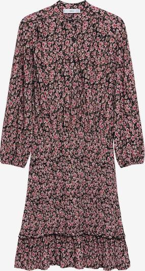 MANGO Kleid 'Rita' in oliv / pink / schwarz, Produktansicht