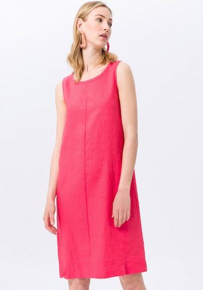 Peter Hahn Abendkleid aus 100% Leinen in koralle, Modelansicht