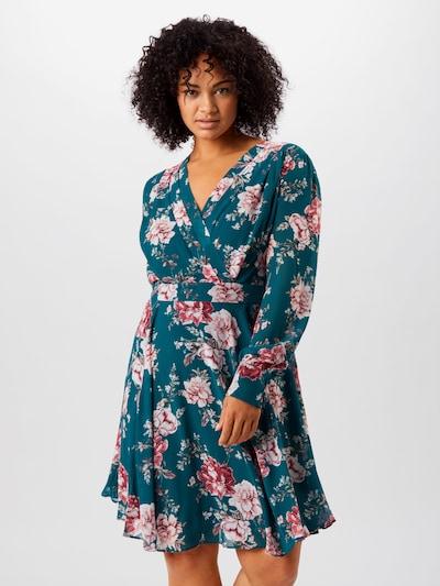 Forever New Kleid 'Freya Pleat' in smaragd / pink, Modelansicht