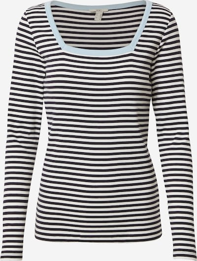 EDC BY ESPRIT Тениска в синьо / светлосиньо / бяло, Преглед на продукта