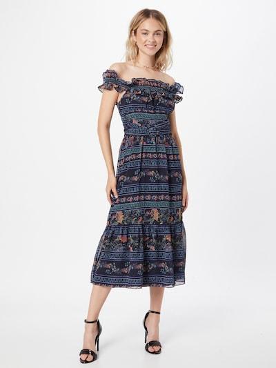Hope & Ivy Kleid 'THE ADALENE' in dunkelblau / mischfarben, Modelansicht