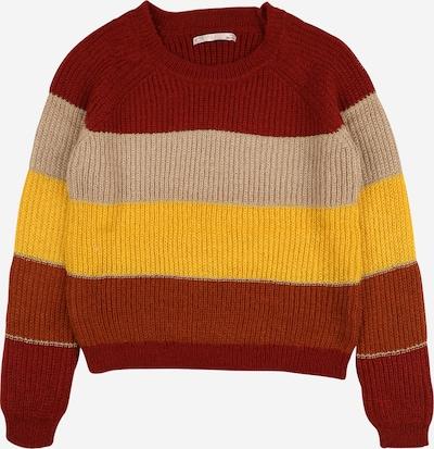 KIDS ONLY Pullover 'MALONE' in beige / gelb / rot, Produktansicht