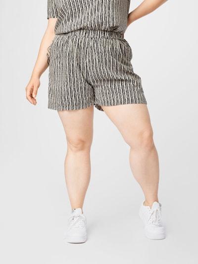 ONLY Carmakoma Shorts 'Mille' in schwarz / weiß, Modelansicht