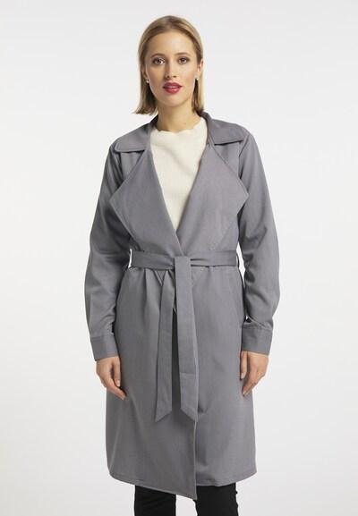 usha BLACK LABEL Between-Seasons Coat in Grey, View model