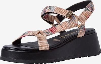 Sandale cu baretă TAMARIS pe bej deschis / albastru fum / smarald / pitaya / rodie, Vizualizare produs