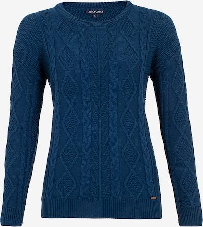 Auden Cavill Pullover mit unifarbenem Stoff in blau, Produktansicht