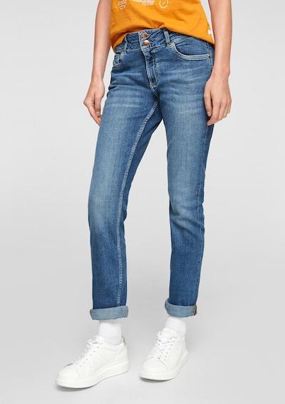 Q/S by s.Oliver Jeans in de kleur Blauw / Blauw denim, Modelweergave