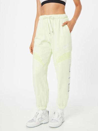 Nike Sportswear Панталон в лайм / бяло, Преглед на модела