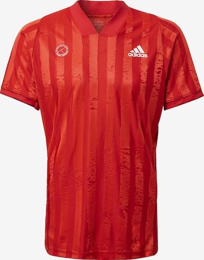 ADIDAS PERFORMANCE T-Shirt in rot / weiß, Produktansicht