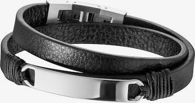 SAVE BRAVE Armband 'Mason' in schwarz / silber, Produktansicht
