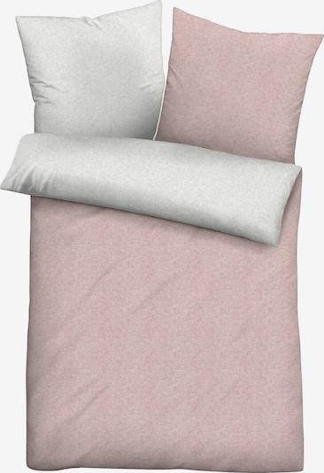BIBERNA Bettbezug 'UNI' in rosé / weiß, Produktansicht