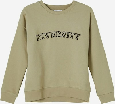NAME IT Sweatshirt 'Billie' in oliv / schwarz, Produktansicht