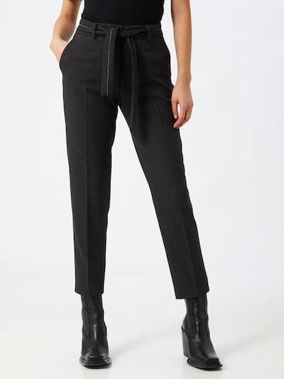 Pantaloni cu dungă s.Oliver BLACK LABEL pe gri închis, Vizualizare model