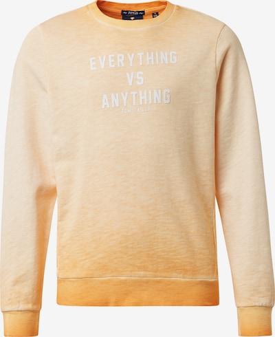 TOM TAILOR Sweatshirt in orange, Produktansicht
