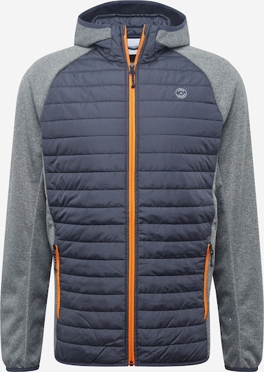 JACK & JONES Jacke in taubenblau / grau / orange, Produktansicht