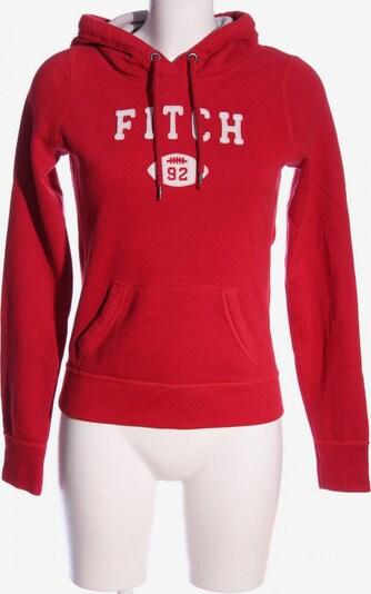 Abercrombie & Fitch Kapuzensweatshirt in XS in rot / weiß, Produktansicht
