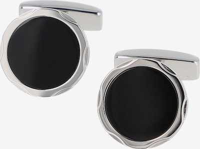 BOSS Casual Manchetknopen in de kleur Zwart / Zilver, Productweergave