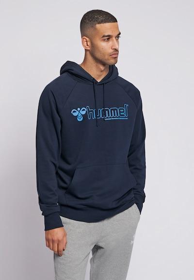 Hummel Hoodie in blau / navy: Frontalansicht