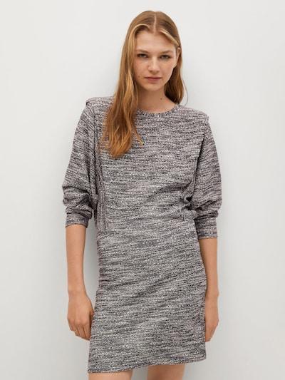 MANGO Úpletové šaty 'Opra' - černá / bílá, Model/ka