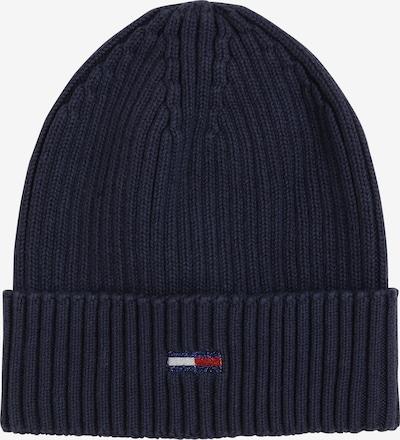 Tommy Jeans Cepure, krāsa - tumši zils / sarkans / balts, Preces skats