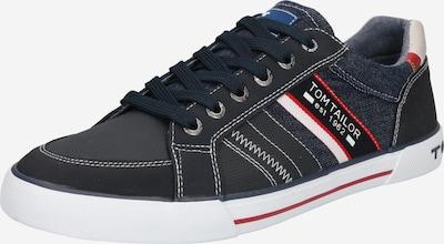 TOM TAILOR Sneakers laag in de kleur Donkerblauw / Rood / Wit, Productweergave