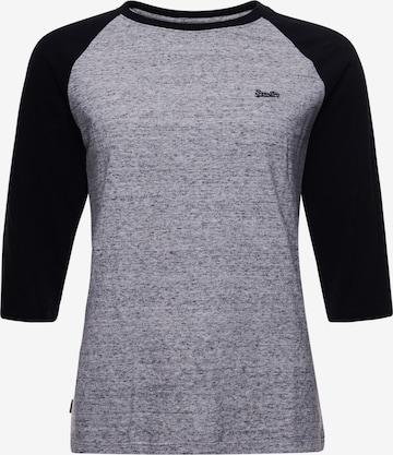 Superdry Shirt 'Baseball' in Grey