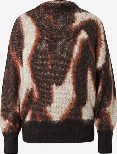 SOAKED IN LUXURY Pullover 'Jacklyn' in braun / hellrot / schwarz / weiß, Produktansicht