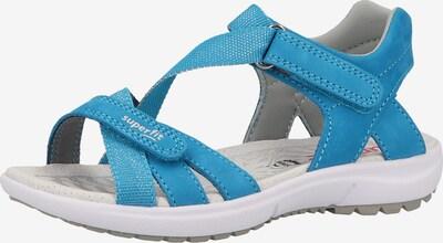 SUPERFIT Sandale in himmelblau / weiß, Produktansicht