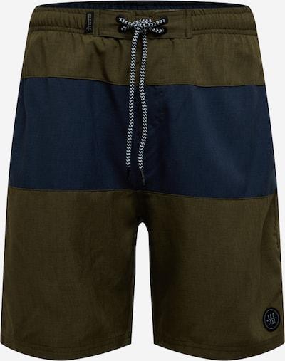 PROTEST Shorts de bain 'VEGAS' en bleu marine / vert, Vue avec produit