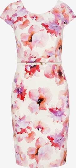 COMMA Kleid in rot / weiß, Produktansicht