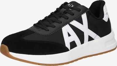 ARMANI EXCHANGE Låg sneaker i svart / vit, Produktvy