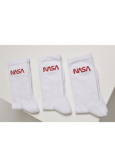 Mister Tee Sokken 'Logo Socks 3-Pack' in de kleur Wit, Productweergave