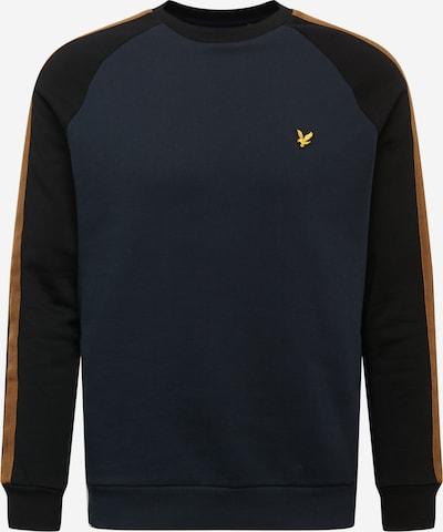 Lyle & Scott Sweatshirt in dunkelblau / honig / schwarz, Produktansicht