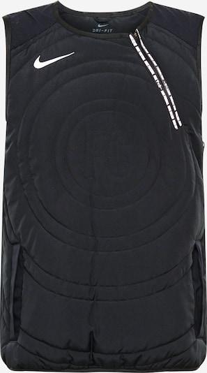 NIKE Športen telovnik | črna / bela barva, Prikaz izdelka