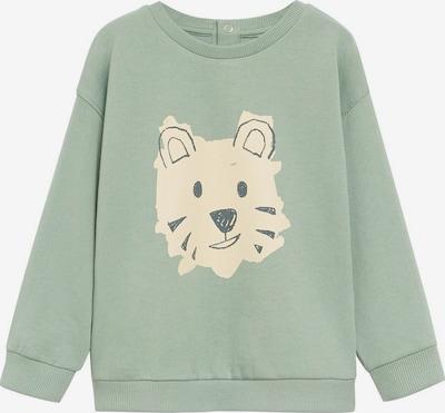 MANGO KIDS Sweatshirt 'Tigre' in de kleur Beige / Pastelgroen, Productweergave