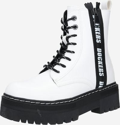 Dockers by Gerli Bottines à lacets en noir / blanc, Vue avec produit