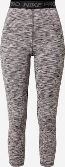 NIKE Sportbroek in de kleur Beige / Rookgrijs / Zwart: Vooraanzicht