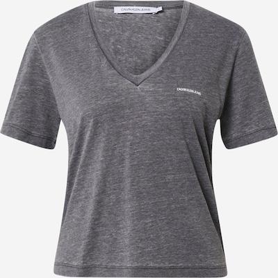 Tricou 'BURN OUT' Calvin Klein Jeans pe negru amestecat, Vizualizare produs