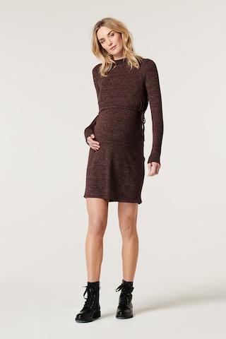 Esprit Maternity Gebreide jurk in Bruin