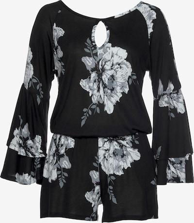 LASCANA Jumpsuit in grau / schwarz / weiß, Produktansicht