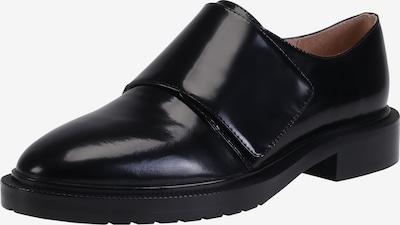 Ekonika Coole Slipper aus echtem Leder in schwarz: Frontalansicht