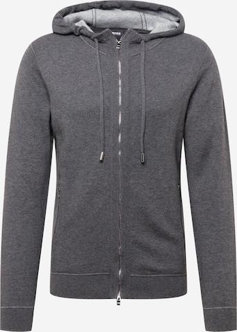 BOSS Knit cardigan 'Norando' in Grey