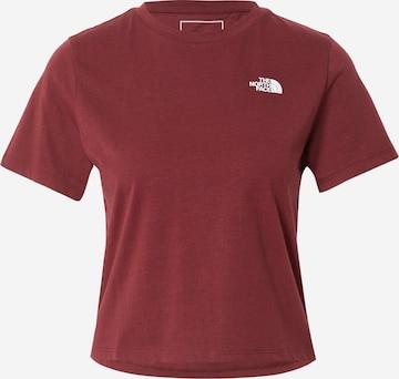 THE NORTH FACE Funksjonsskjorte i rød