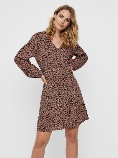 VERO MODA Kleid 'MILDA' in hellorange / rosa / schwarz, Modelansicht